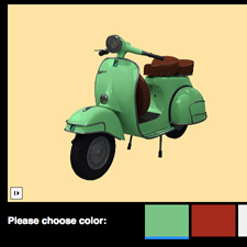 Color selector using JS API