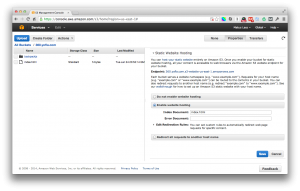 This is how you enable static website hosting on your s3 bucket.